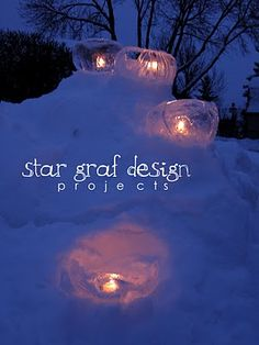 Ice Bowl Lantern Tutorial - so beautiful but I will probably never get to make these in Virginia Beach :(