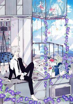 Happy Boy, Dream Boy, Anime Style, Hot Boys, Scenery, Artist, Cute, Anime Boys, Sketching