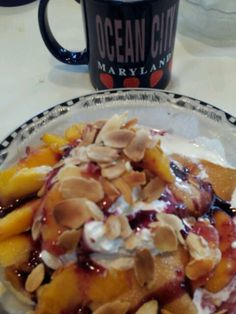 Peach melba crepes at Bayside Skillet in Ocean City MD