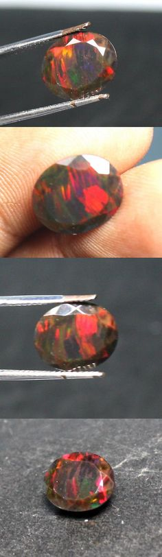 Black Opals 181110: Natural Loose Gemstone Black Ethiopian Fire Opal Oval Shape Cut Stone 2.7 Ct -> BUY IT NOW ONLY: $30 on eBay!