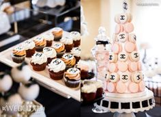 WedLuxe: #Chanel inspired bridal shower