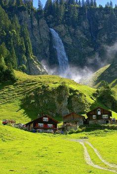 Waterfall, Klausenpass, Switzerland photo via lovefreely