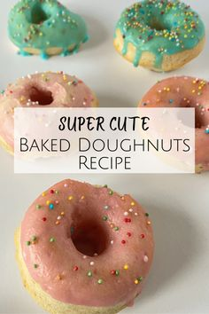 Baked Doughnut Recipes, Baked Doughnuts, Baking Cupboard, Easy Homemade Gifts, Pink Food Coloring, Sugar Icing, Frugal Family, Pink Foods, Frugal Meals