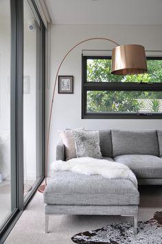 Staple and Co ottoman, Bo Concept lamp © Donna Vercoe #masculineinteriors  #moodyinteriors  #designerfurniture #mancave  #minimal #loungeroom #interiordesign #loungeroom #livingroom #corporateinteriors #commercialinteriors #designerfurniture #fabricsofa #australianmadefurniture #madeinsydney #cameronfoggo #livingroomfurniture #greystyle #greystyling #minimaldesign