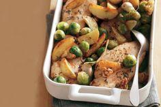 Kijk wat een lekker recept ik heb gevonden op Allerhande! Kipfilet met gemarineerde groenten uit de oven