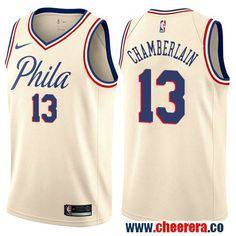 d0fd55a908c Philadelphia 76ers  13 Wilt Chamberlain Cream Nike NBA Men s Stitched Swingman  Jersey City Edition Jersey