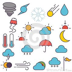 Weather Icons - Download From Over 43 Million High Quality Stock Photos, Images, Vectors. Sign up for FREE today. Image: 69853368