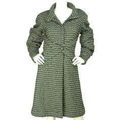 CHANEL Tweed Coat With Pleated Elbows Sz. 42   1stdibs.com