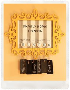 DIY Family Home Evening Chart