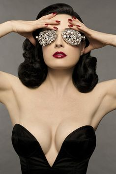 Look up glam in the dictionary and you'll find a photo of Dita von Teese. Seriosuly. This woman proves class really is sexy xo