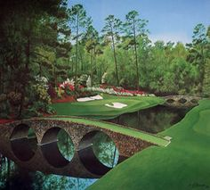 Amen Corner, Augusta National Golf Course, consists of holes 11 through 13. Tony came to grief daily on the par 3 twelfth, pictured here.