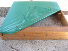 sandpit cover, plastic sandpit cover, green sandpit cover, heavy duty sandpit cover kids outdoor play equipment playground equipment