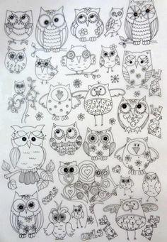 Owl pattern background