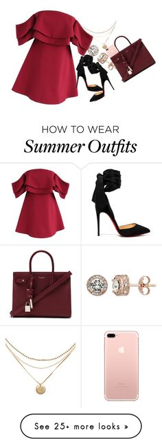 """In A New Whip"" by bolu on Polyvore featuring Chicwish, Christian Louboutin and Yves Saint Laurent"