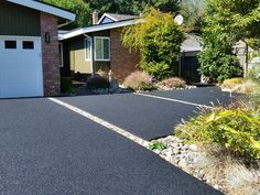gorgeous rubber paved driveway