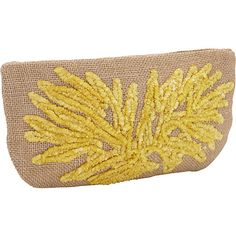 Moyna Handbags Large Cosmetic Pouch Natural/ Yellow - Moyna Handbags Ladies Cosmetic Bags