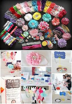 Hair Accessories 18786: Baby Shower Headband Kit - Jumbo Diy Hair-Bow And Headband Kit - Party Colors -> BUY IT NOW ONLY: $47.99 on eBay!