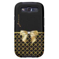 Chic Black & Gold Tone Samsung Galaxy S3 Case
