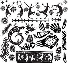 Elementos de diseño de arte primitivo
