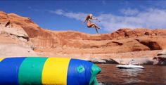Ready for some fun at the lake this summer? You really need to check into trying out the water blob. It's a human catapult that will launch you upwards of 50 feet in the air.