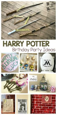 Harry potter birthday party ideas: creative ideas including party favors, awesome wands, a harry potter themed cake and treats, quill and book activities Harry Potter Halloween, Harry Potter Motto Party, Cumpleaños Harry Potter, Harry Potter Birthday Cake, Harry Potter Cosplay, Harry Potter Cakes, Harry Potter Wands Diy, Harry Potter Treats, Harry Potter Party Games