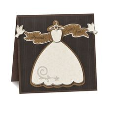 This card looks just like Cinderella!!  Divine Wedding Dress Cricut Scrapbooking Card from Creative Memories #scrapbooking #wedding    http:www.creativememories.com