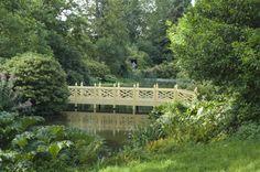 Chinoiserie bridge, late twentieth century, at Woolbeding, West Sussex