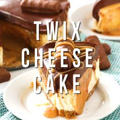 A blissful Chocolate Caramel Twix Cheesecake with a dreamy cheesecake topped with a thick, exquisite ganache before a drizzle of buttery caramel sauce! Every bite will make you swoon! Yummy Treats, Delicious Desserts, Sweet Treats, Yummy Food, Brunch Recipes, Dessert Recipes, Brunch Ideas, Muffin Recipes, Cupcake Cakes