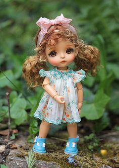 Chestnut gold pigtails | by Sherbet LollyDolly
