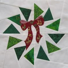 Wreath quilt block pattern and tutorial