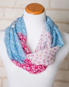 Audra Floral Block Infinity Scarf