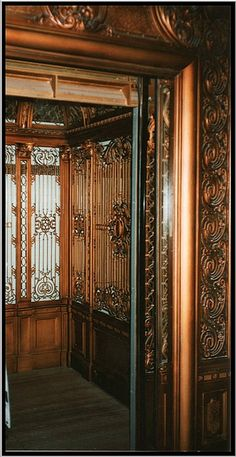 Ornate Elevator at Altman's Department Store at 34th Street & 5th Avenue; New York City [Now Closed] - Altman's Department Store~New York City, NY [Closed]