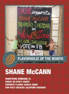 Our Flavorholic of the Month, Shane McCann