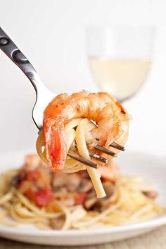 Clean Eating Shrimp Scampi  www.TheGraciousPantry.com