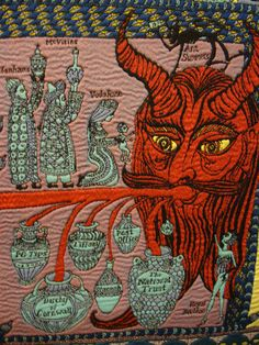 This is another detail of the Grayson Perry tapestry.
