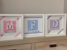Patterns - Designs Personalised Scrabble Frame New Baby Girl Boy Initial Christening Keepsake Gift in Crafts, Hand-Crafted Items Scrabble Crafts, Scrabble Wall Art, Scrabble Frame, Letter A Crafts, Frame Crafts, Scrabble Tiles, Craft Frames, Box Frame Art, Deep Box Frames