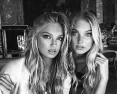 model, elsa hosk, and romee strijd image