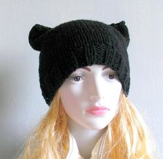 SALE  Pink Pussy Hat Crochet Pussycat Hat Women's by recyclingroom