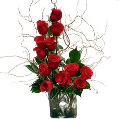 This dazzling take on the classic rose arrangement is an exciting way to spice up Valentine's Day.