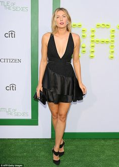 Picture perfect:Sharapova was a stunning vision as she posed on the grassy green surface