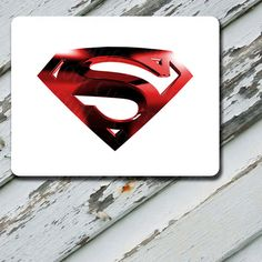Mousepad Superman Red Horizontal Design on by EastCoastDyeSub