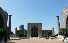 Los reflejos azules de Samarkanda I: El Registán Conquistador, Taj Mahal, Building, Travel, Blue Highlights, Blue Nails, Alexander The Great, Bazaars, Empire