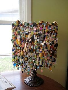Custom Made Curiosity Lamp | Etsy Diy Arts And Crafts, Home Crafts, Diy Home Decor, Diy Crafts, Beaded Crafts, Money Bouquet, Dollar Tree Organization, Handmade Lamps, Graduation Party Decor
