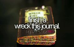 finish a wreck this journal.