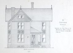 Cottage house plan from 1884 Leffels House Plan book.