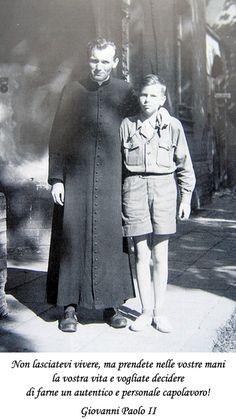 Orbis Catholicus Secundus: Future Pope John Paul II in Cassock Saint Jean Paul Ii, Pope John Paul Ii, Saint John, Paul 2, Papa Francisco, Catholic Saints, Roman Catholic, Johannes Paul Ii, Papa Juan Pablo Ii