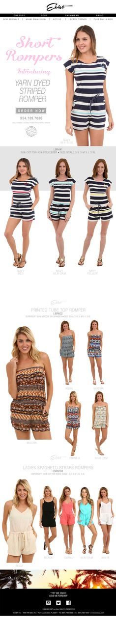 Short Rompers! Best Sellers of the Month! #shortrompers #rompers #newarrivals #happywednesday