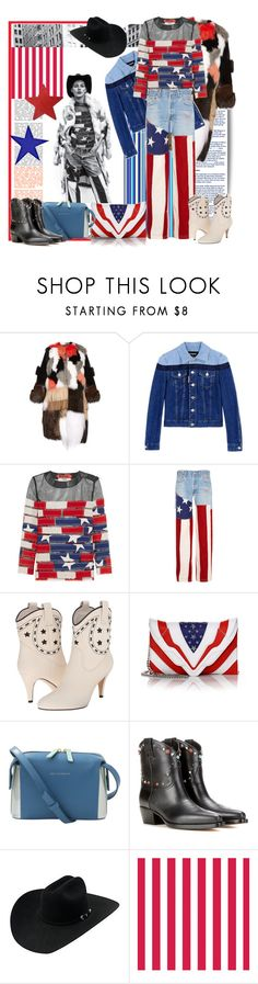 """Stars & Stripes"" by sylandrya ❤ liked on Polyvore featuring Fendi, Dsquared2, RVDK, Marc Jacobs, Elena Ghisellini, Want Les Essentiels de la Vie and Valentino"