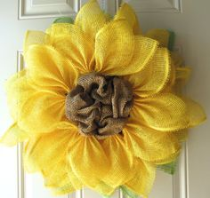 Yellow Sunflower Summer Fun Paper Mesh Indoor by NicoleDCreations, $55.00