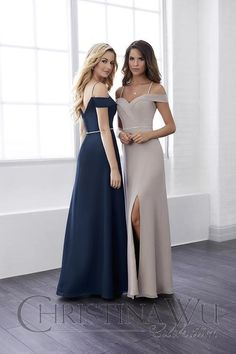 off the shoulder bridesmaid styles available at Spotlight Formal Wear!